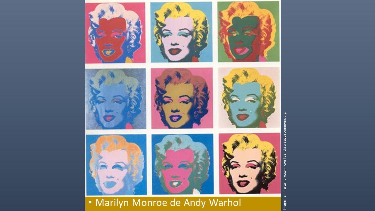 Marilyn Monroe de Andy Warhol Imagen en martamoro.com con licencia creativecommons.org