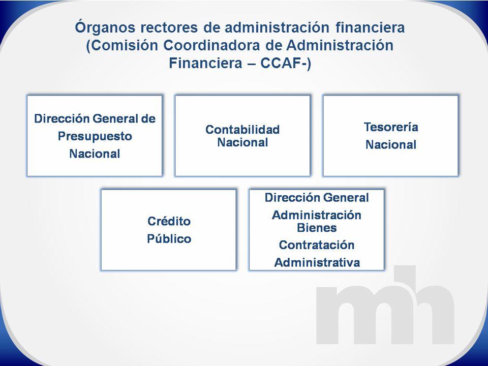 Órganos rectores de administración financiera (Comisión Coordinadora de Administración Financiera – CCAF-)