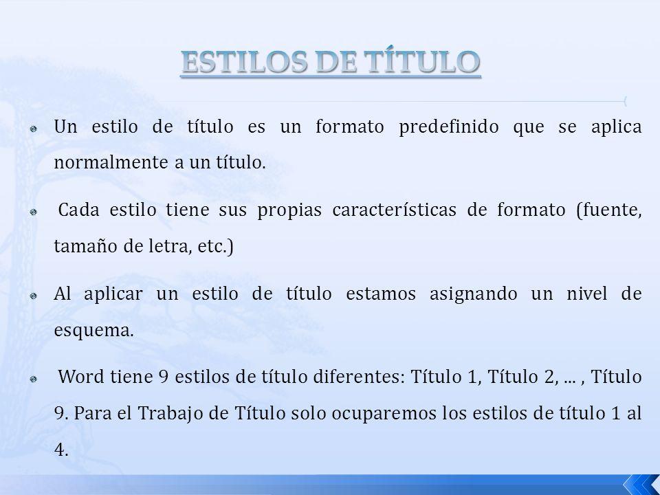 Cuando se intercale una FIGURA se dejarán : 2 espacios de 1,5 líneas cada uno, entre la última línea del texto y el comienzo de la figura.