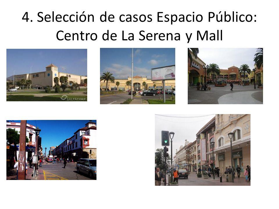 4. Selección de casos Espacio Público: Centro de La Serena y Mall