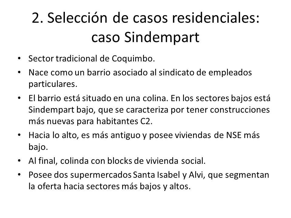 2. Selección de casos residenciales: caso Sindempart Sector tradicional de Coquimbo.