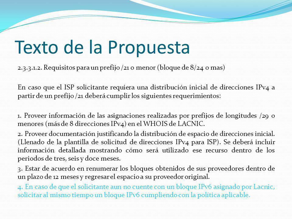 Texto de la Propuesta 2.3.3.3.