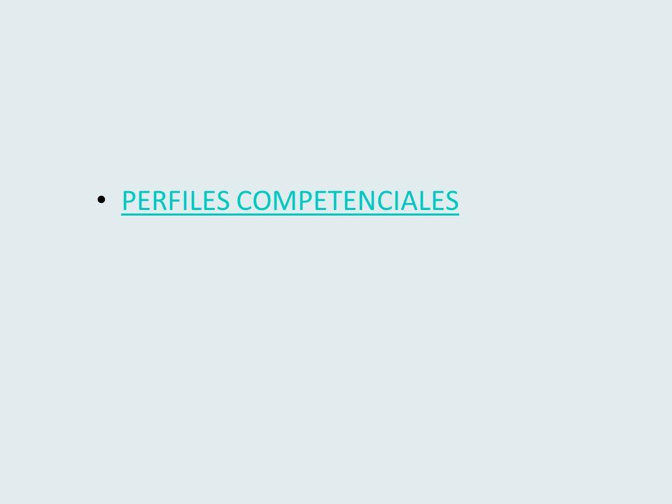 PERFILES COMPETENCIALES