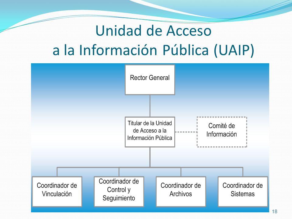 Unidad de Acceso a la Información Pública (UAIP) 18
