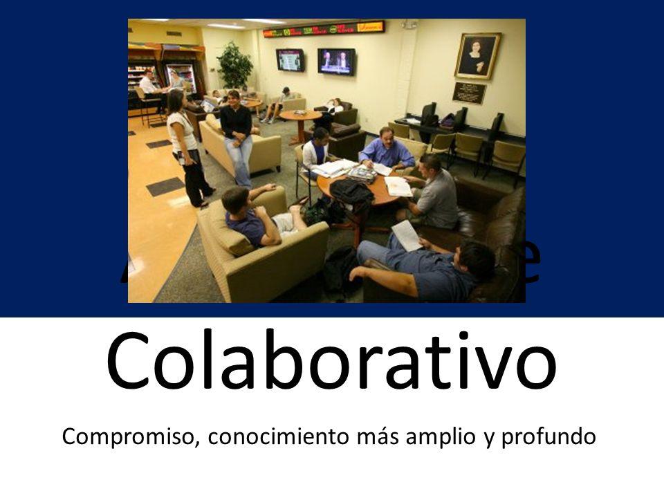 Aprendizaje Colaborativo Compromiso, conocimiento más amplio y profundo