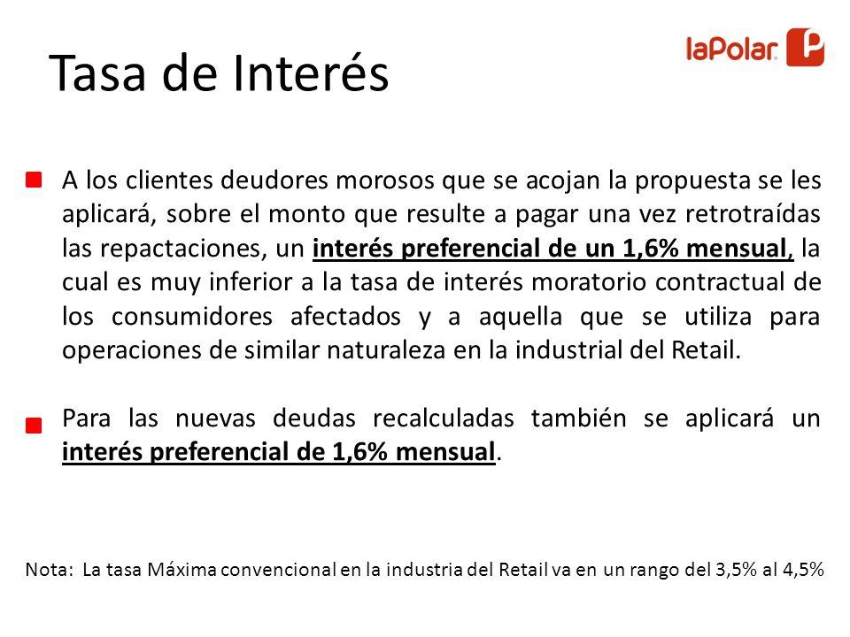 Respecto a los plazos para que los clientes puedan pagar sus nuevas deudas con La Polar, se incorpora el plazo de 24 cuotas con un 20% de descuento.