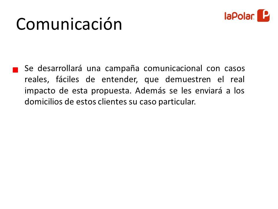 Se desarrollará una campaña comunicacional con casos reales, fáciles de entender, que demuestren el real impacto de esta propuesta.