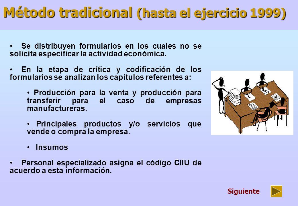 Se distribuyen formularios electrónicos en los cuales se solicita seleccionar a través de una ventana la actividad económica CIIU.