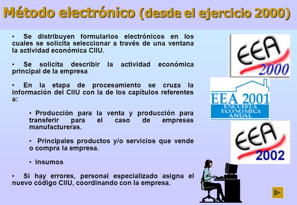 Ejemplo de formatos utilizados en la Industria Manufacturera Se utilizan 25 formularios electrónicos para recoger la información anual de las empresas, sean primarias, de transformación, comercio o servicios.