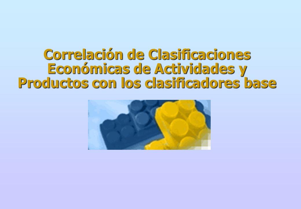 TABLA DE CORRESPONDENCIA Clasificación Industrial Internacional Uniforme, Revisión 3 Clasificación Central de Productos, Versión 1,0 Sistema Armonizado de Designación y Codificación de Mercancías 2002 Nomenclatura Común de los países miembros de la Comunidad Andina (NANDINA) 2002 Arancel de Aduanas del Perú 2002 Clasificación Internacional por Uso o Destino Económico (CUODE) Clasificación Uniforme para el Comercio Internacional (CUCI) Revisión 3.
