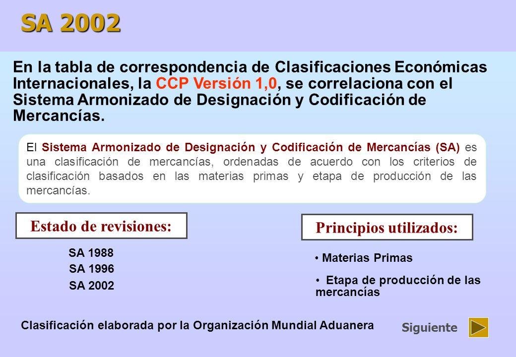 Las clasificaciones de comercio exterior para garantizar una correspondencia directa entre ellas.