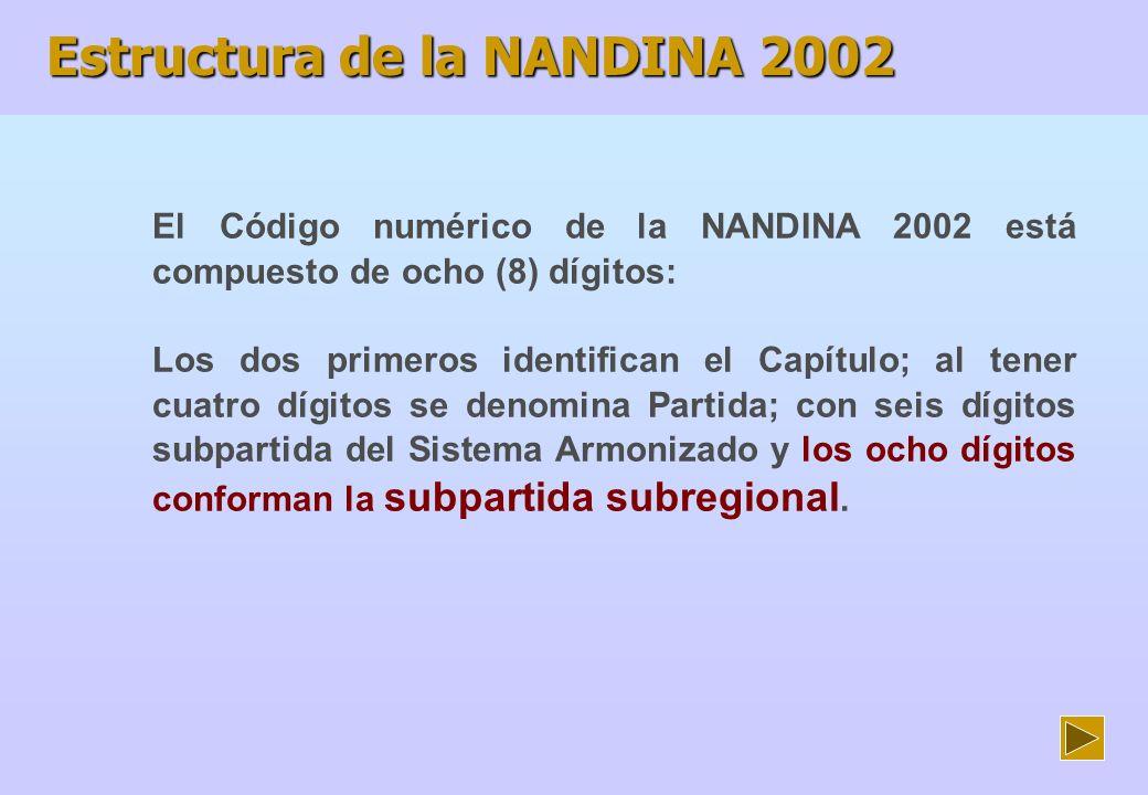 El Arancel de Aduanas del Perú 2002 (AAP) ha sido elaborado en base a la Nomenclatura Común de los Países Miembros de la Comunidad Andina (NANDINA 2002), con la inclusión de subpartidas adicionales.