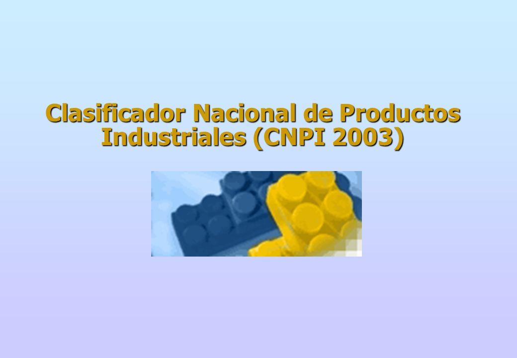 Estructura de la CNPI La estructura de la CNPI es jerárquica y su sistema de codificación es decimal y acumulativo.