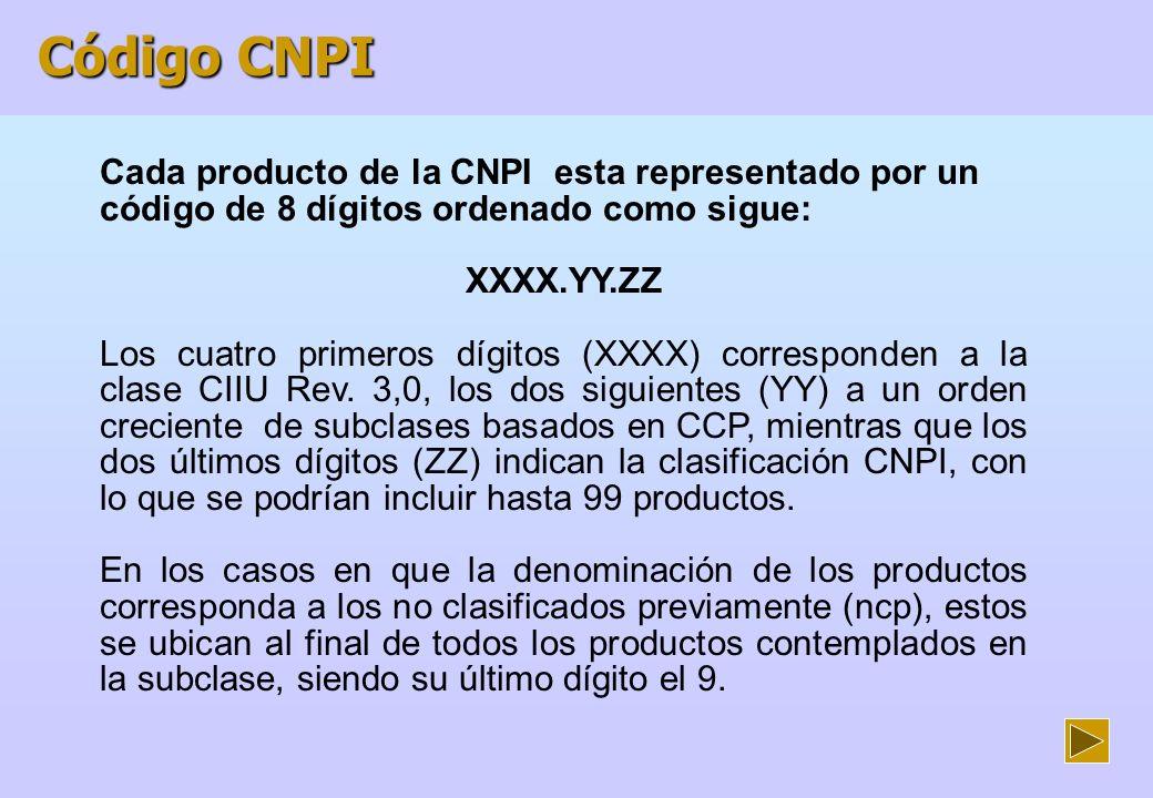 Características de la CNPI La CNPI incluye los servicios industriales (trabajos por encargo, mantenimiento, reparación y montaje).