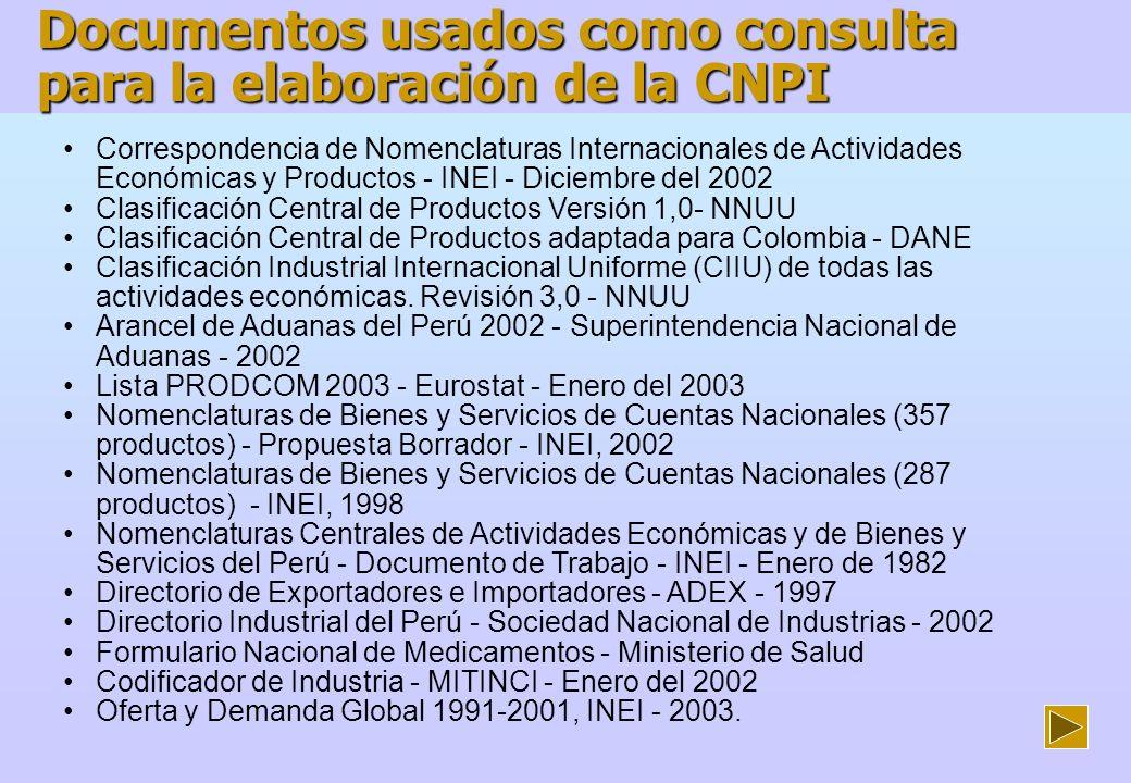 CCP V.1,0 Bienes Construcción de la Clasificación Nacional de Productos Industriales (CNPI) Orden CIIU Rev.