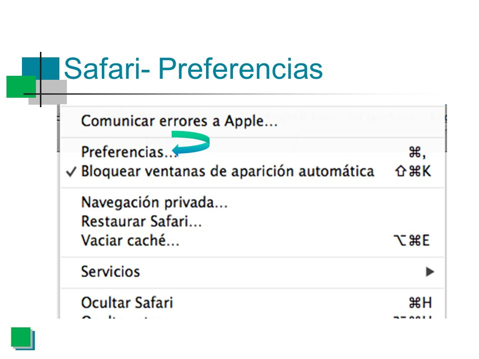 Safari- Preferencias
