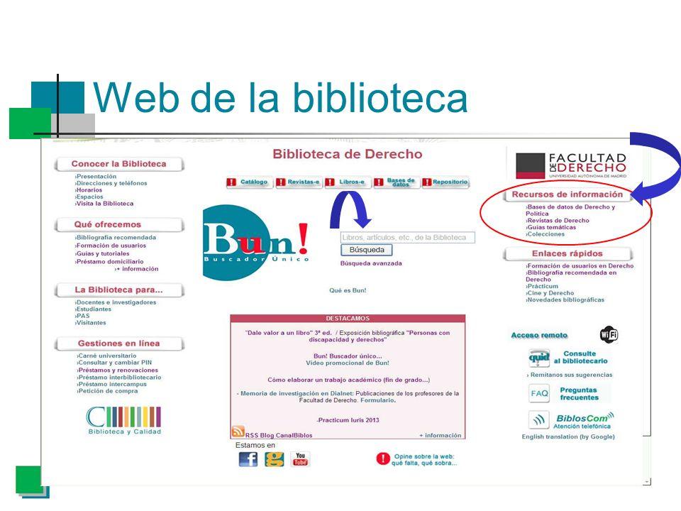 Web de la biblioteca