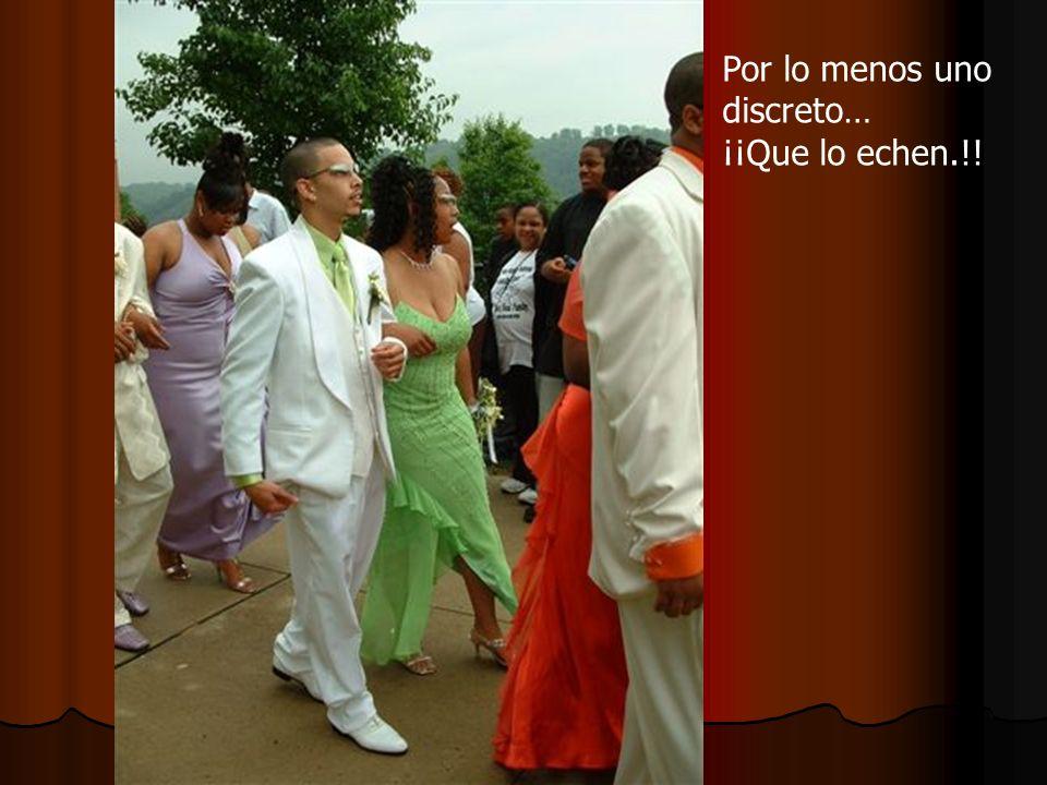 En toda boda hay un guevón. Se ve que el difunto era grande…