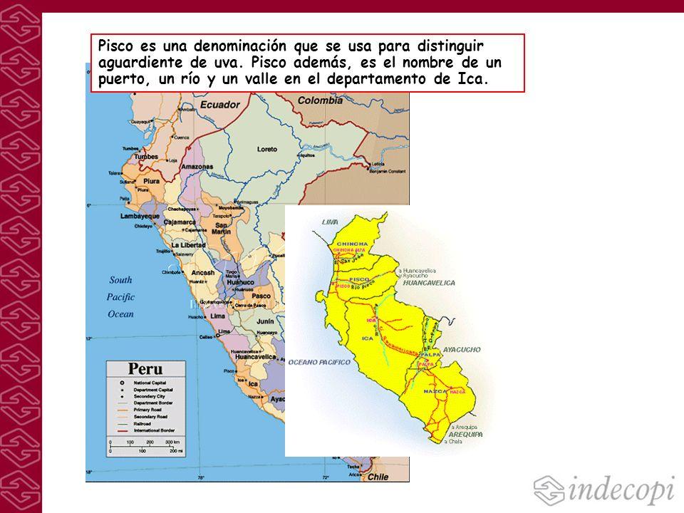 Pisco es una denominación que se usa para distinguir aguardiente de uva. Pisco además, es el nombre de un puerto, un río y un valle en el departamento