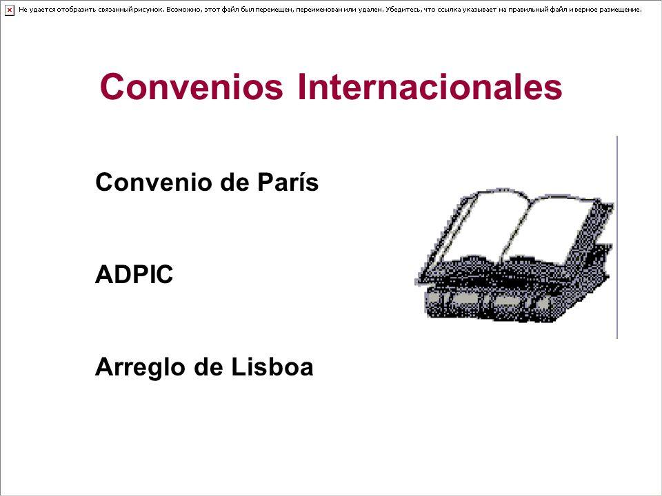 Convenios Internacionales Convenio de París ADPIC Arreglo de Lisboa