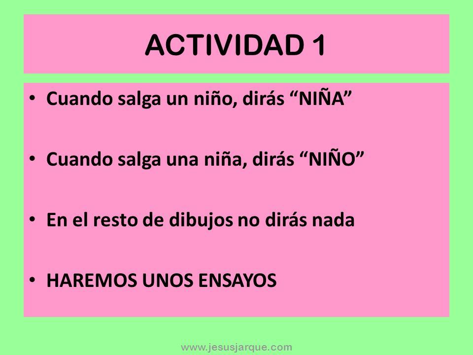www.jesusjarque.com INSTRUCCIONES Las actividades Hacer – No hacer sirven para estimular la funci ó n ejecutiva de inhibici ó n y flexibilidad. Son re