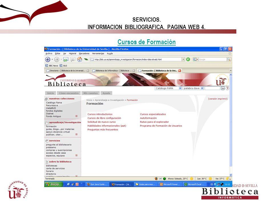 SERVICIOS. INFORMACION BIBLIOGRAFICA. PAGINA WEB 4. DICCIONARIOS DICCIONARIOS