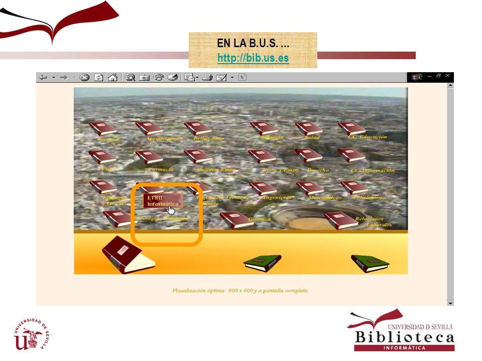 Catálogos automatizados de la BUS ¿Qué es?: el catálogo automatizado contiene las referencias de los fondos bibliográficos y documentales, independientemente de su ubicación física o formato, que se integran en la Biblioteca de la Universidad de Sevilla.