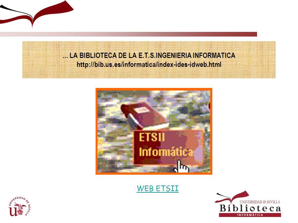 SERVICIOS. INFORMACION BIBLIOGRAFICA.PAGINA WEB4. BASES DE DATOS BASES DE DATOS