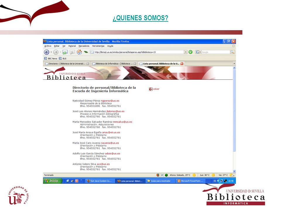 SERVICIOS: INFORMACION BIBLIOGRAFICA. ACCESO VIA INTERNET PÁGINA WEB HORARIO Y SERVICIOS PRESTADOS HORARIO Y SERVICIOS PRESTADOS
