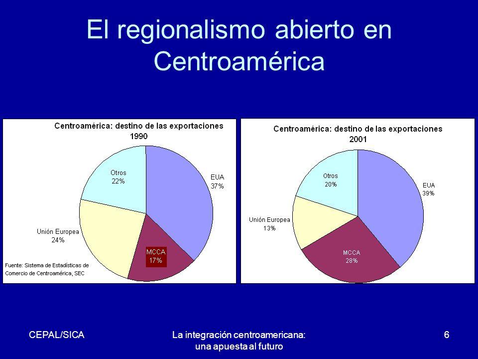 CEPAL/SICALa integración centroamericana: una apuesta al futuro 6 El regionalismo abierto en Centroamérica
