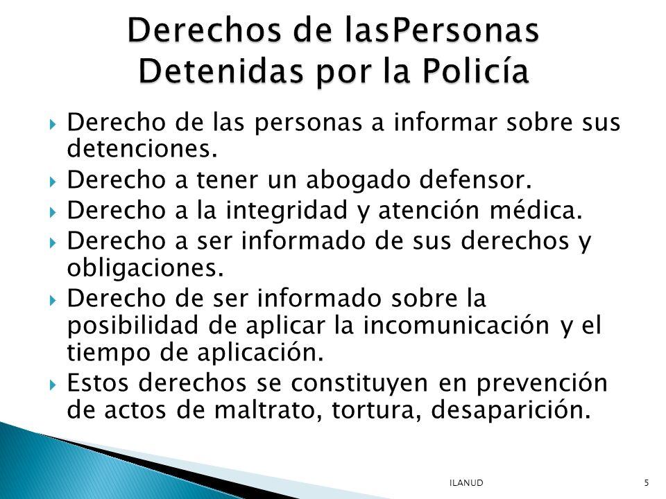 La persona detenida debe tener acceso a la identidad real de los policías que se relacionan con el detenido o lo interrogan.