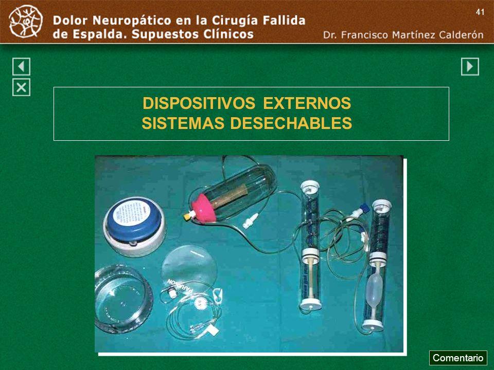 DISPOSITIVOS EXTERNOS SISTEMAS DESECHABLES Comentario 41