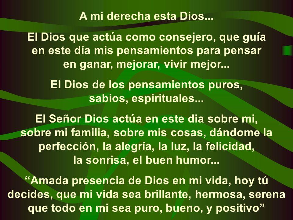 Detrás de mi esta Dios... El Dios de la protección de mi vida de mi salud, y la de mis seres queridos... El Dios que disuelve todas las dificultades o