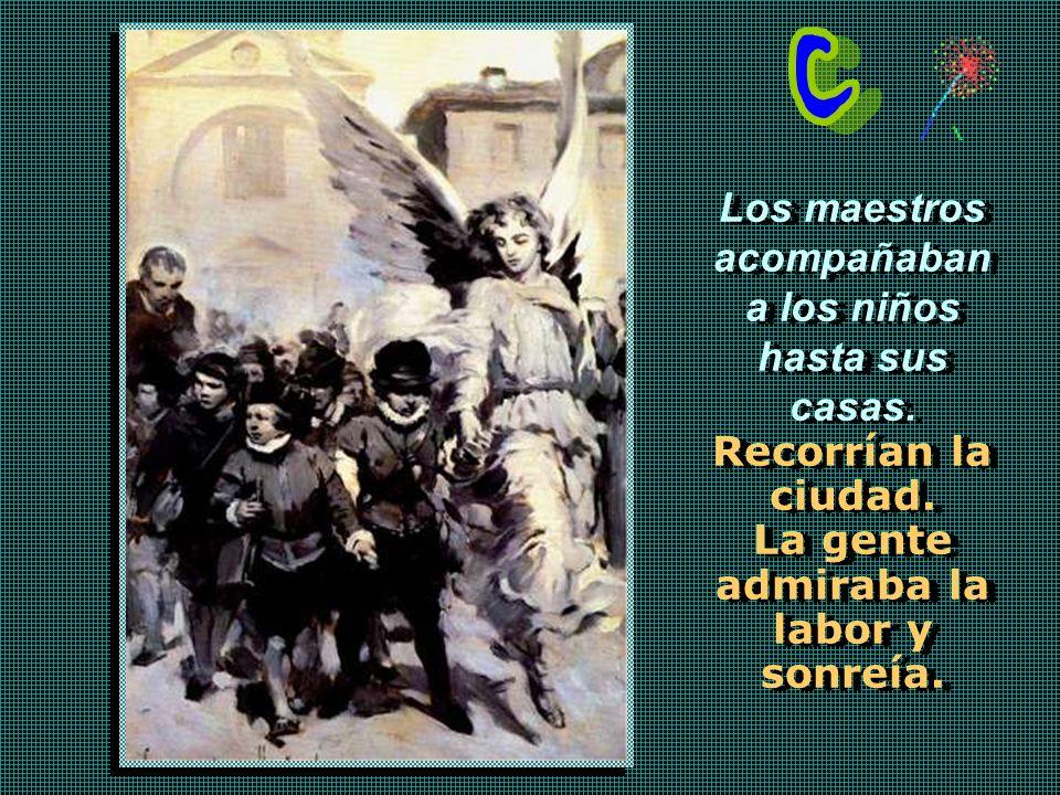 A las Escuelas Pías acuden muchos alumnos. En 1612 son ochocientos, en 1614, mil quinientos, en 1617, mil seiscientos... y hay que colocar una campaña
