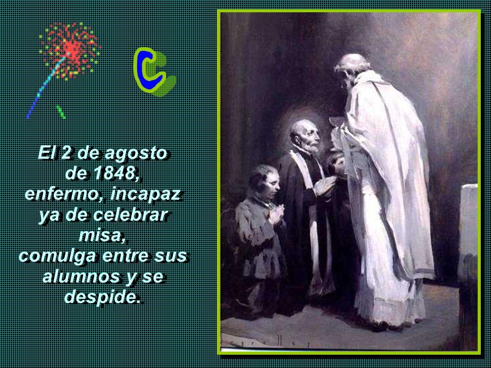 Calasanz visitó al papa Inocencio X. Espero se arreglen los problemas, aunque no faltará quien lo estropee. Pero el papa destruye la Orden y las escue