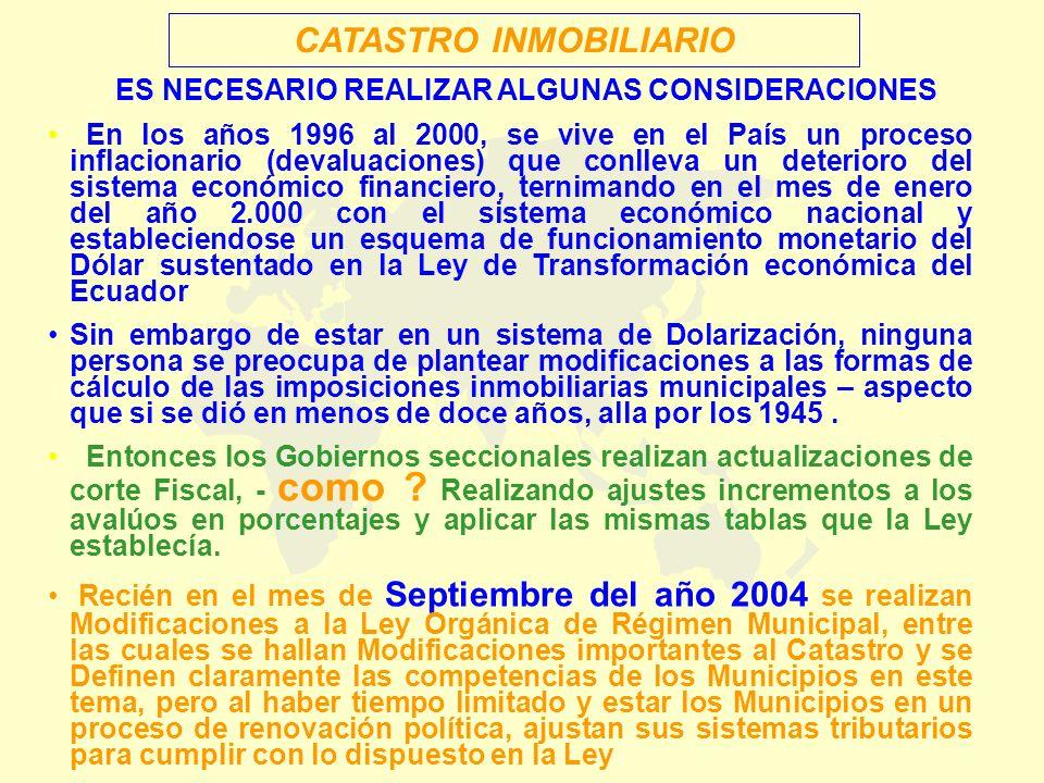 En los años 1996 al 2000, se vive en el País un proceso inflacionario (devaluaciones) que conlleva un deterioro del sistema económico financiero, tern
