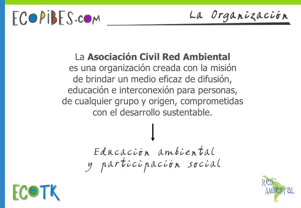 La Asociación Civil Red Ambiental es una organización creada con la misión de brindar un medio eficaz de difusión, educación e interconexión para pers
