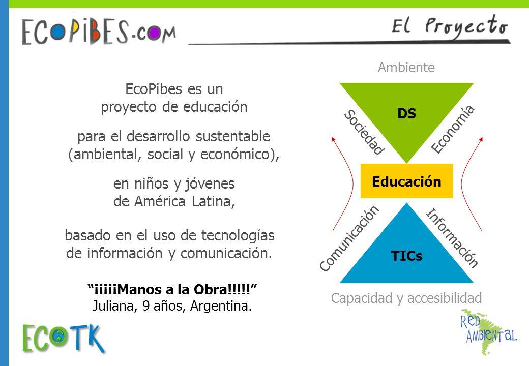 Información Capacidad y accesibilidad Comunicación Educación TICs DS Ambiente Sociedad Economía basado en el uso de tecnologías de información y comun