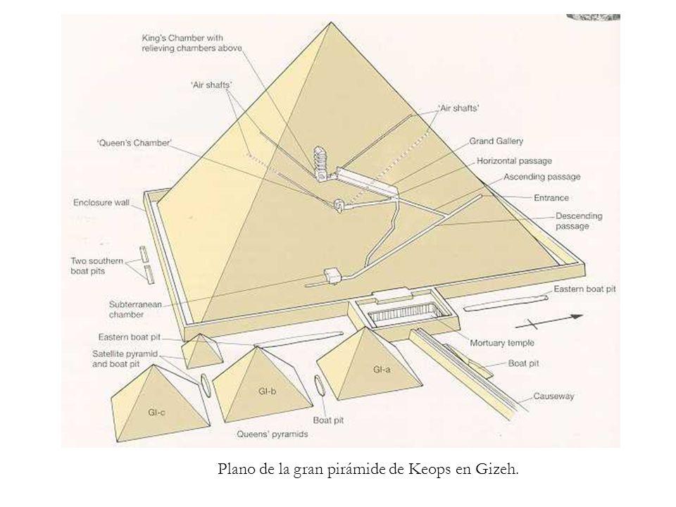 Plano de la gran pirámide de Keops en Gizeh.