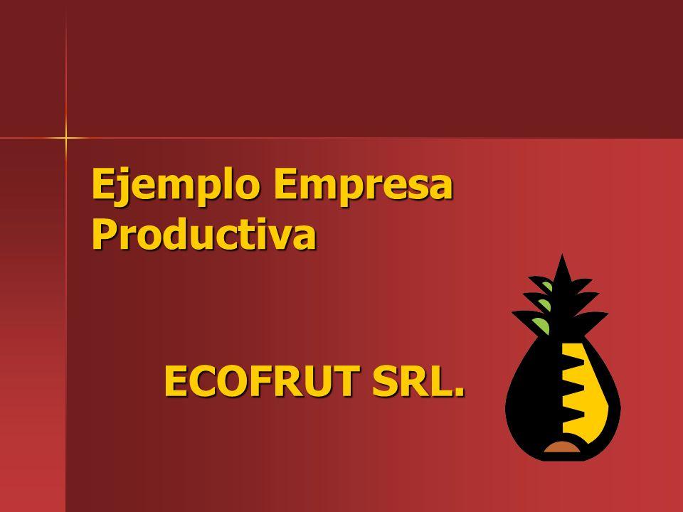 Ejemplo Empresa Productiva ECOFRUT SRL.