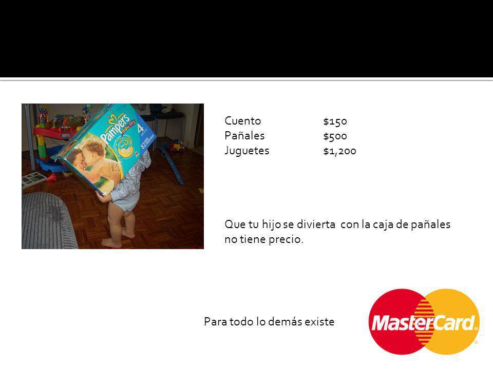 Cuento $150 Pañales$500 Juguetes$1,200 Que tu hijo se divierta con la caja de pañales no tiene precio.