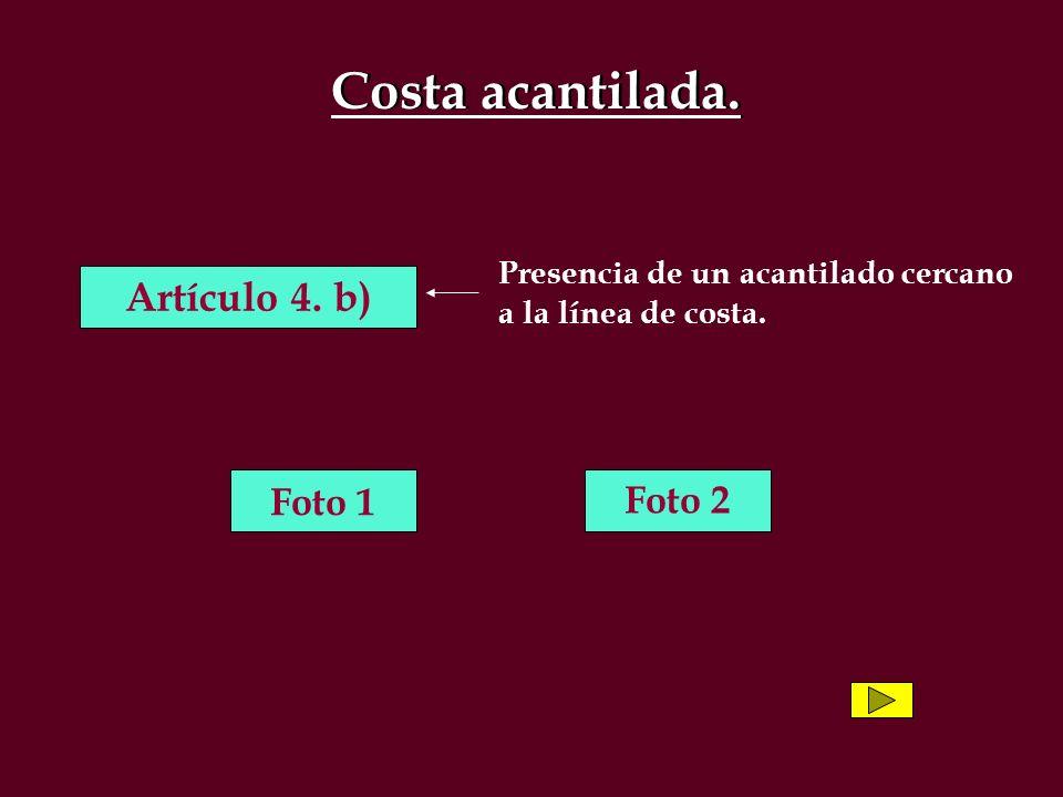 Costa acantilada.Artículo 4.