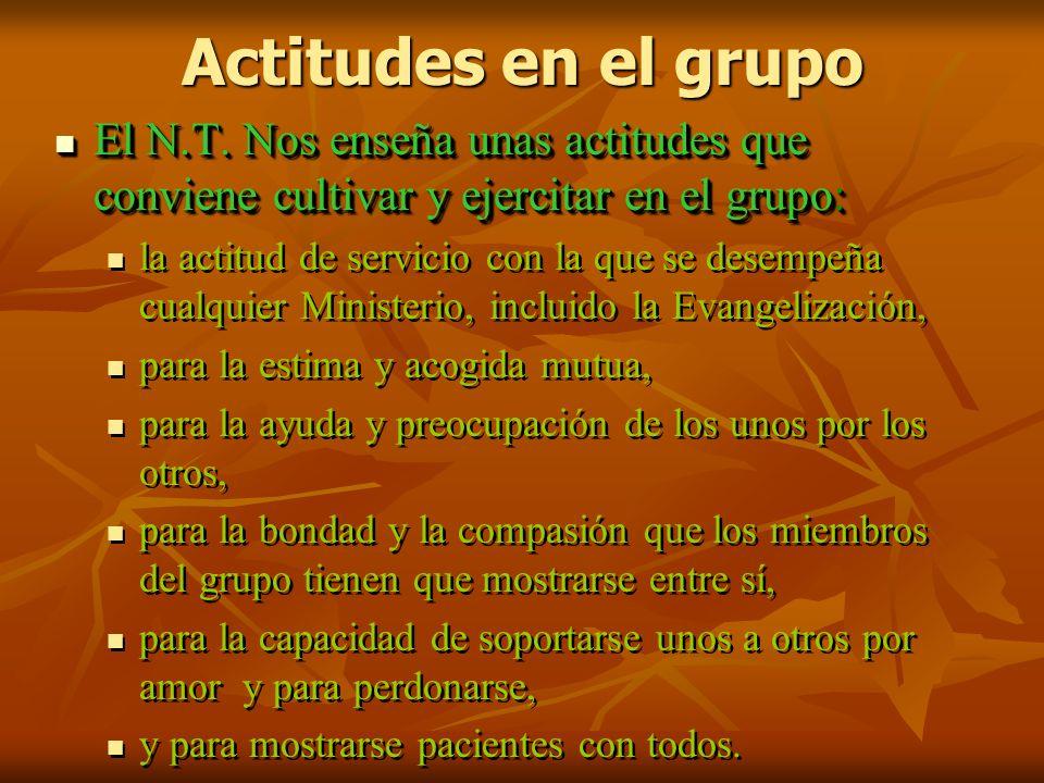 Actitudes en el grupo El N.T.