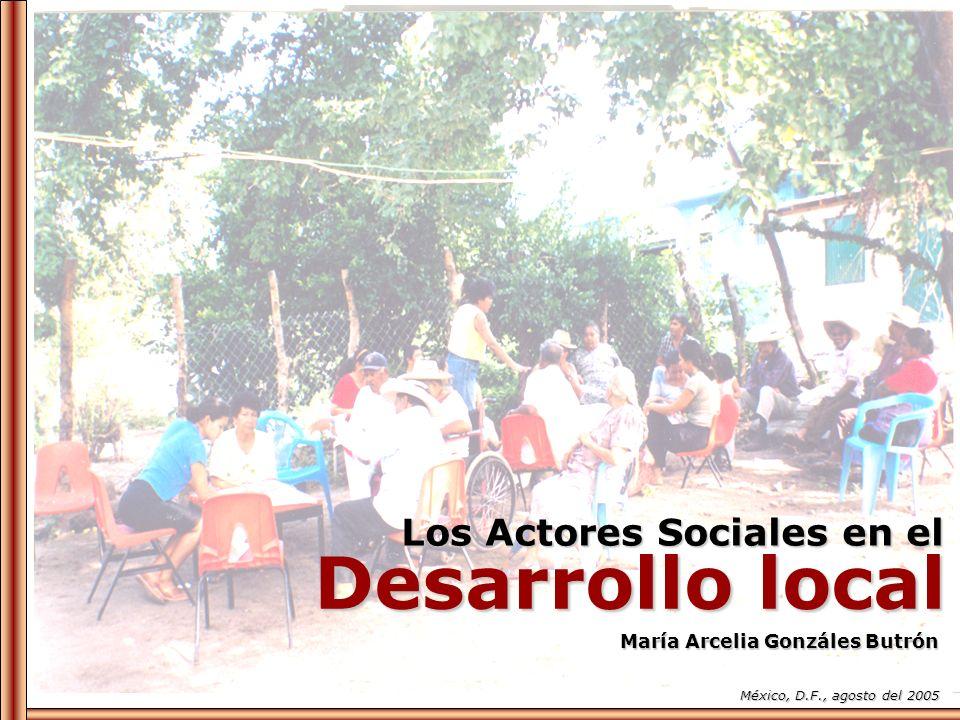 Los Actores Sociales en el Desarrollo local María Arcelia Gonzáles Butrón México, D.F., agosto del 2005