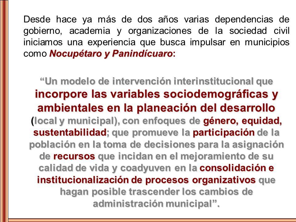 Instituciones Participantes (PEC- Producto 5) GubernamentalGubernamental Estatal Sociedad Civil Organizaciones CEMIF Vasco de Quiroga A.C./ EMAS Promotora Purépecha A.C.
