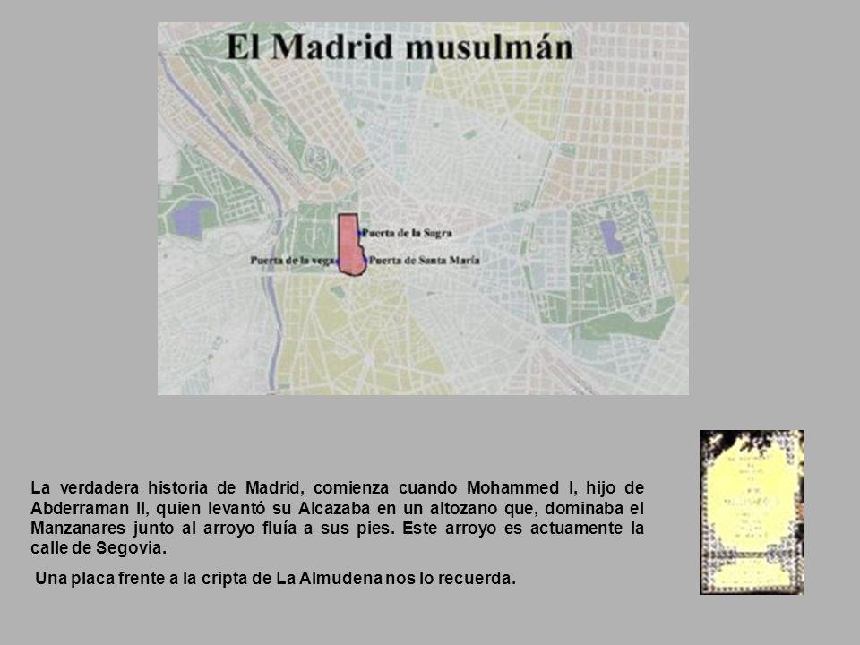 El Madrid que hoy conocemos, parte de su zona central, que abarca 16% de lo que es su extensión actual. Su nombre originario como indica el plano de T
