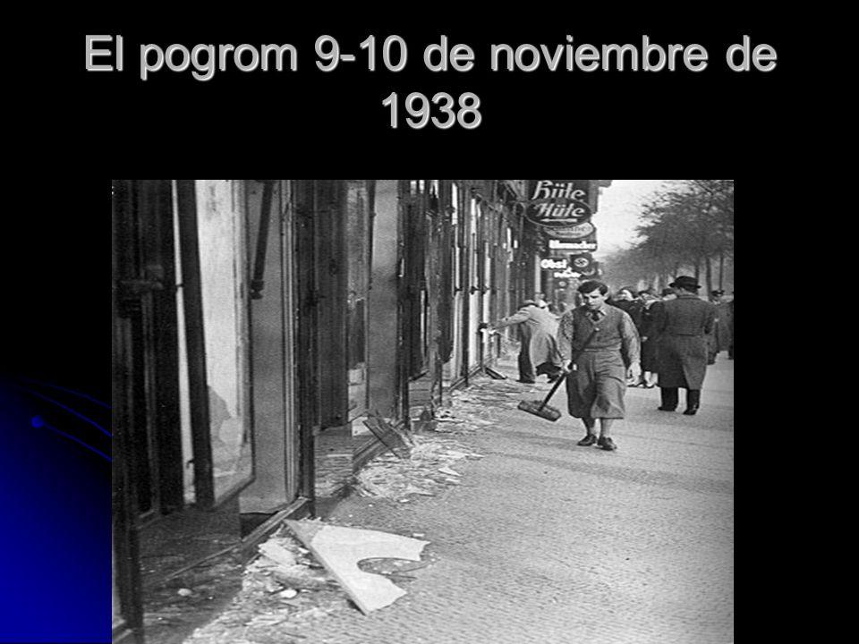El pogrom 9-10 de noviembre de 1938