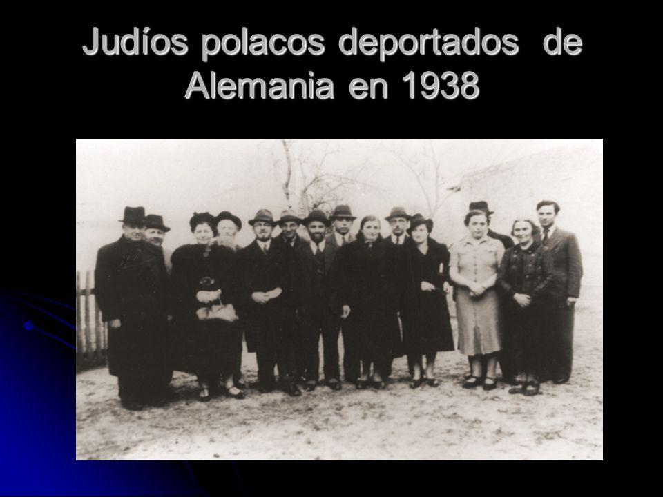 Judíos polacos deportados de Alemania en 1938