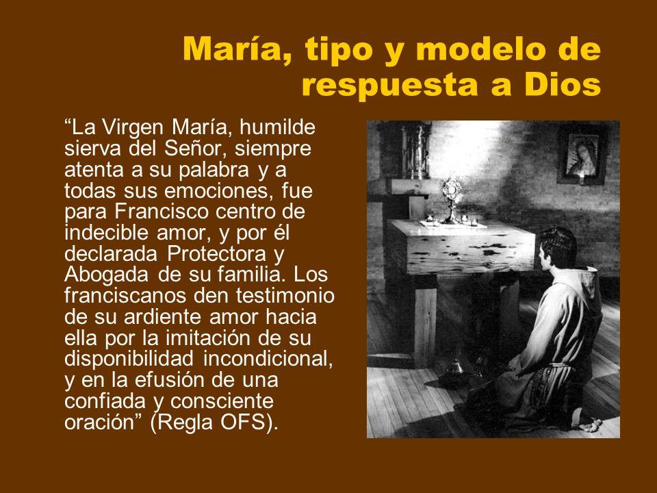 María, tipo y modelo de respuesta a Dios La Virgen María, humilde sierva del Señor, siempre atenta a su palabra y a todas sus emociones, fue para Fran