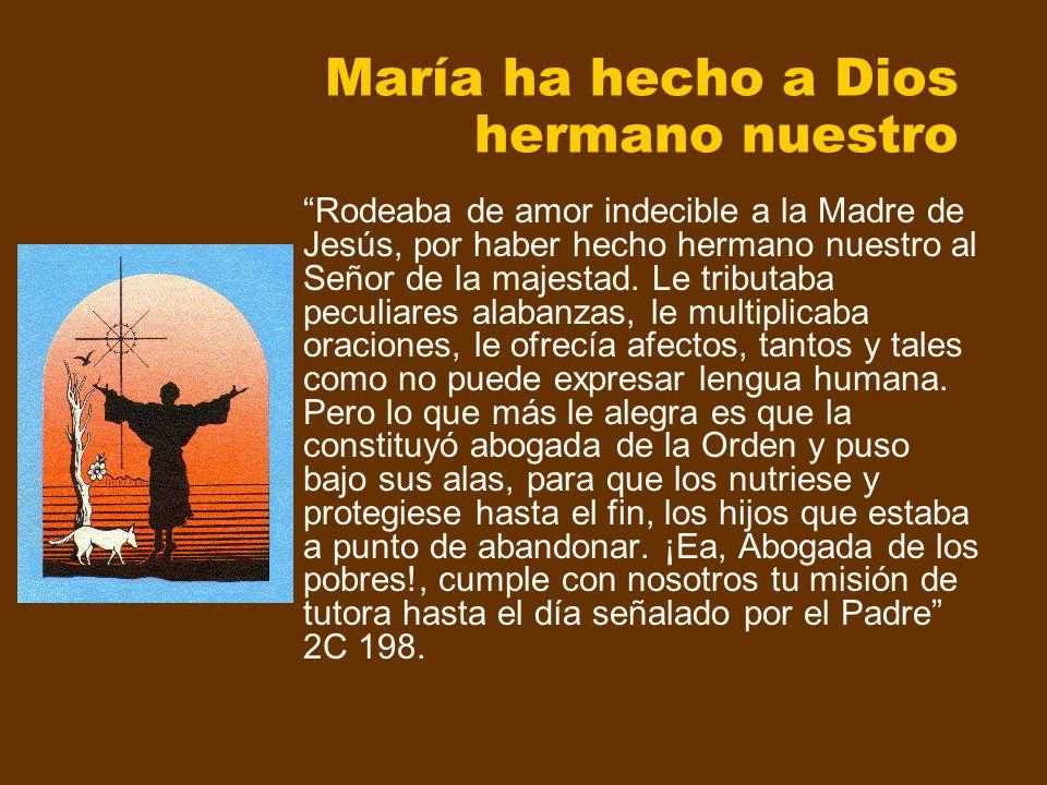 María ha hecho a Dios hermano nuestro Rodeaba de amor indecible a la Madre de Jesús, por haber hecho hermano nuestro al Señor de la majestad. Le tribu